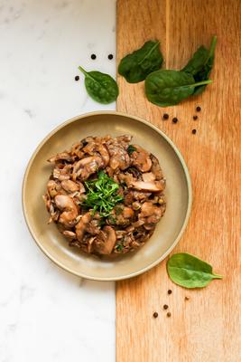 Baked chestnut mushrooms